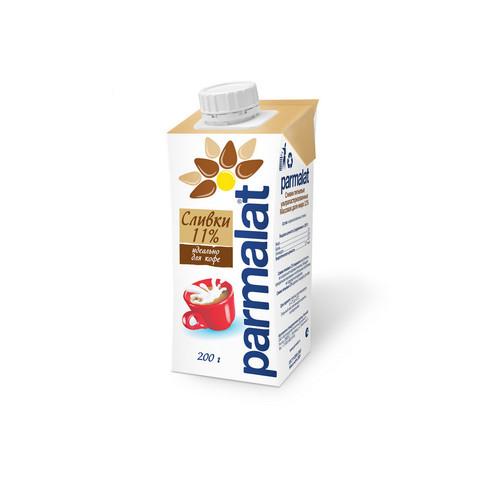 Сливки ультрапастеризованные Parmalat 11% 0,2л