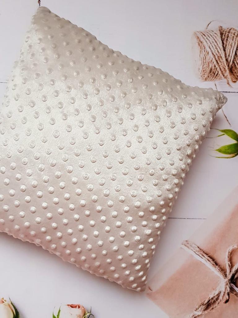 Плюшевый плед с подушкой, Серо-бежевый