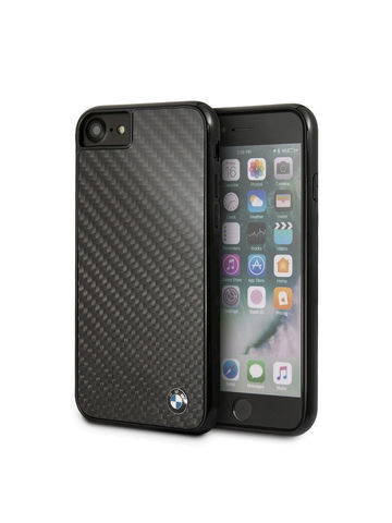 BMW / чехол для iPhone 7/8/SE 2020 Signature Real carbon Hard Black