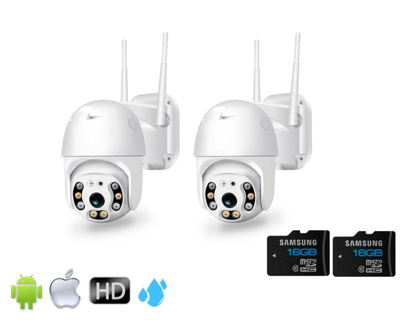 Комплекты видеонаблюдения (IP Wi-Fi камеры 2021 года) Комплект из 2-х Уличных Поворотных Wi-Fi камер глав2.jpg