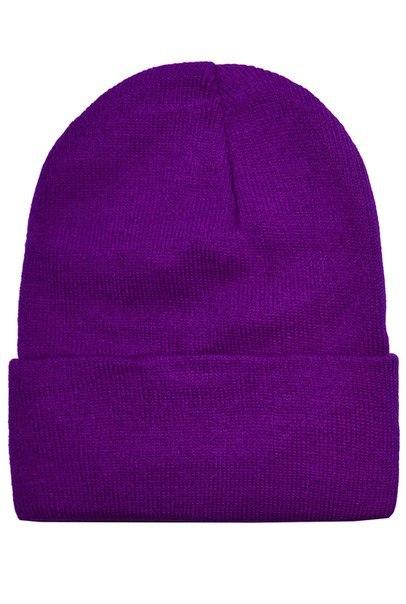 Шапка фиолетовая фото