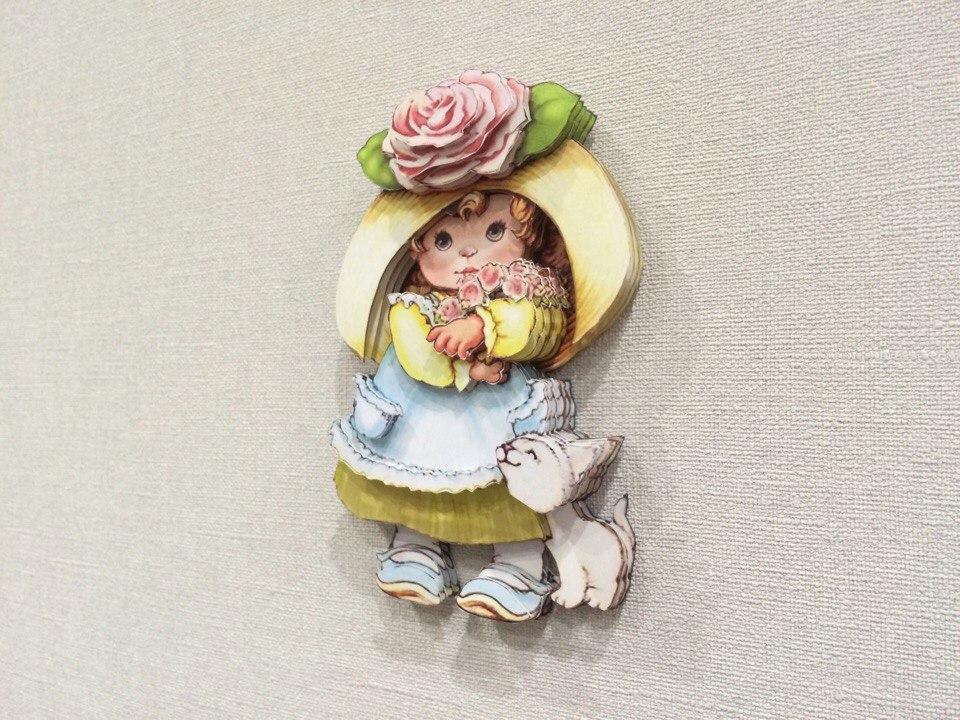Папертоль Девочка с розами — пример собранной работы.