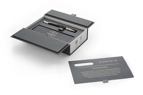 Шариковая ручка Parker Duofold Classic International Black CT, MBlack123