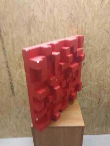 Акустическая пенополистирол панель Echoton Pixels StyroFoam 1 шт 300-3000 Hz БЕЛЫЙ
