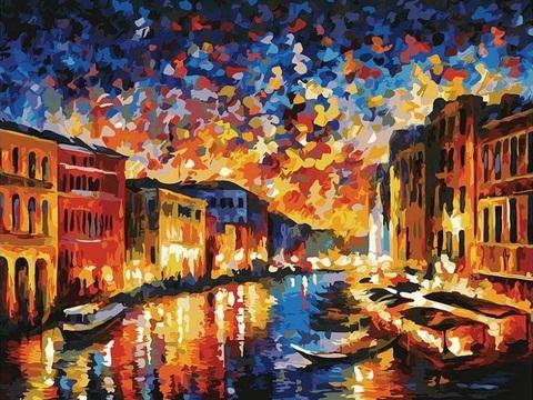 Картина раскраска по номерам 40x50 Ночная водная прогулка (арт. PH9230)