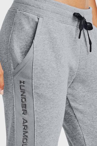 Женские серые спортивные брюки UA Rival Fleece EMB Pant Under Armour
