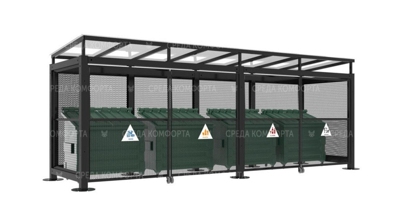 Контейнерная площадка для мусора NVS0040
