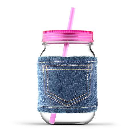 Кружка Asobu Jeans jar (0,75 литра), розовая