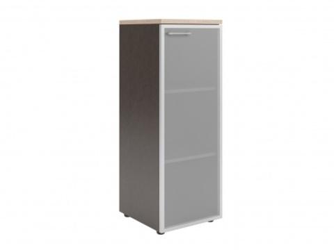 XMC 42.7(L/R) Шкаф колонка со стеклянной дверью в ал. раме  и топом (425х410х1165)
