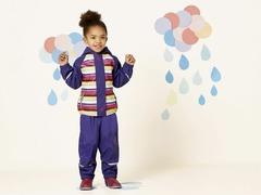 Ветровка для девочки Lupilu непромокайка подкладка флис