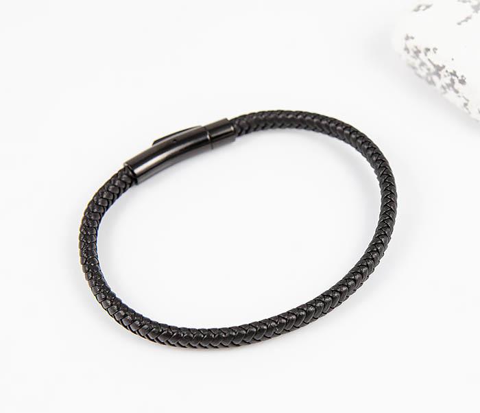 BM529-1 Тонкий мужской браслет из плетеного шнура фото 02