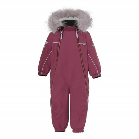 Комбинезон Molo Pyxis Fur Recycle Maroon зимний