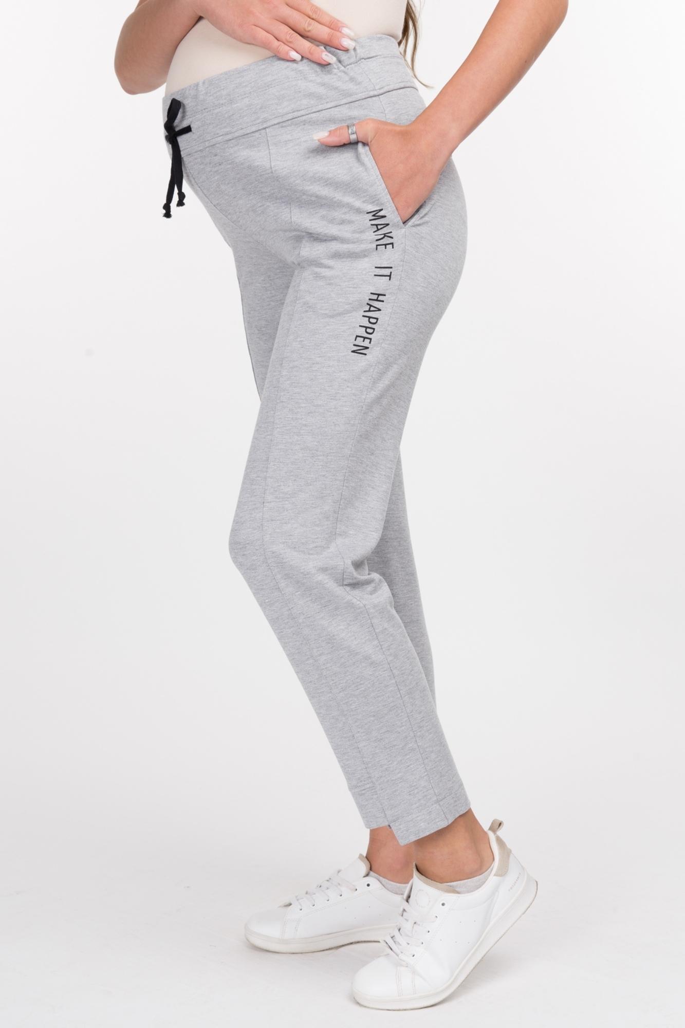 Спортивные брюки для беременных 09146 серый