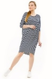 Туника для беременных 08281 синяя полоска