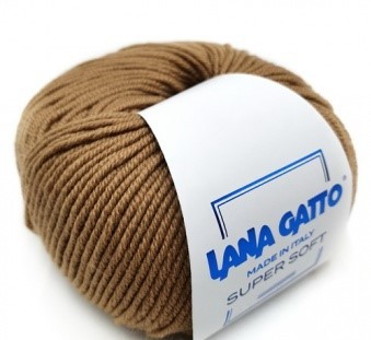 Пряжа Lana Gatto Supersoft 14202 кэмел
