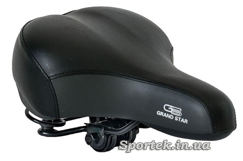 Седло велосипедное прогулочное Grand Star черно-серое