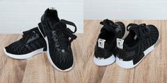 Обувь дет. № 6 Детские Кроссовки Нубук Черные