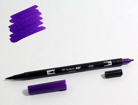 Маркер-кисть Tombow ABT Dual Brush Pen-636, фиолетовый имперский
