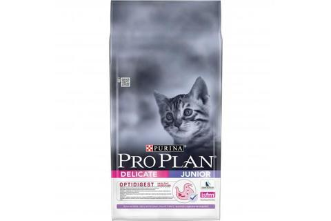 Сухой корм Purina Pro Plan Delicate Junior для котят с чувствительным пищеварением, индейка, 10 кг