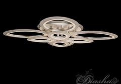 A8059/4+4 Потолочная Светодиодная LED люстра с пультом, диммером и подсветкой, 130W