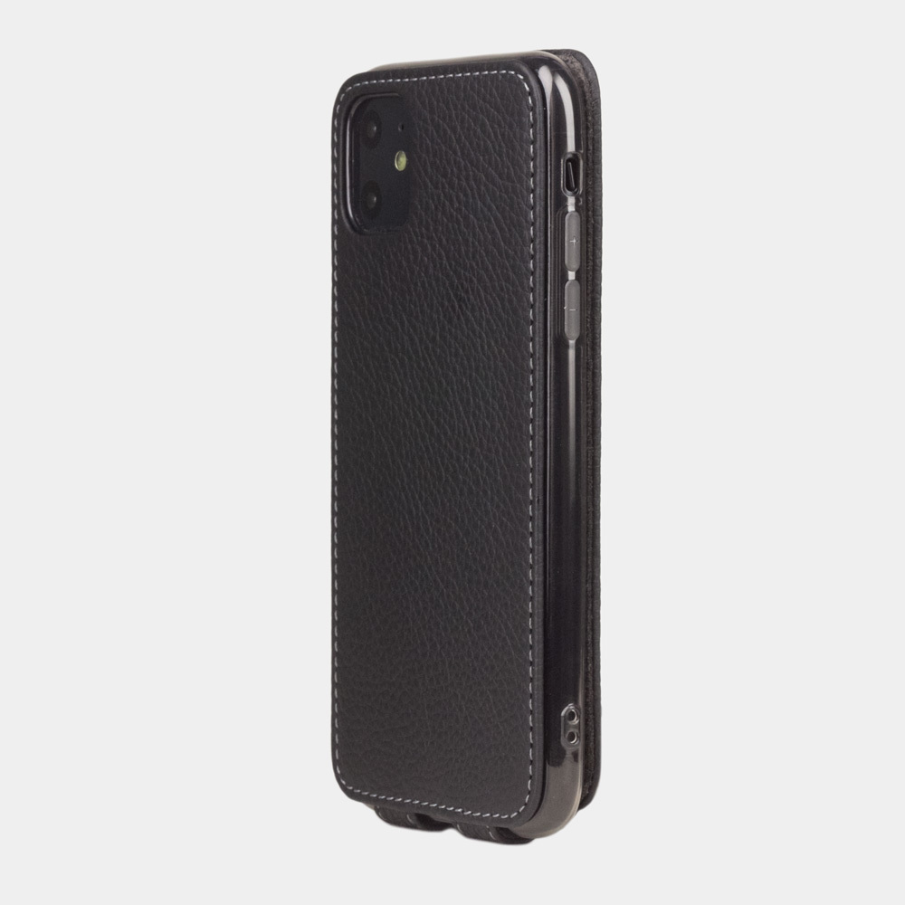 Чехол для iPhone 11 из натуральной кожи теленка, цвета черный мат
