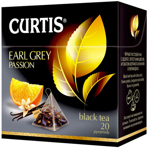 "Чай черный ""Curtis"" Earl Grey Passion 20 пирамидок"