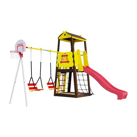 Детский спортивный комплекс для дачи ROMANA Избушка (Цепные качели)
