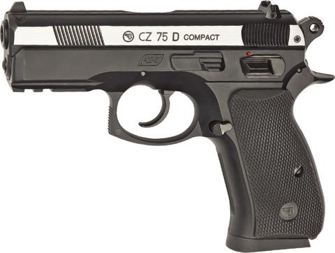 Пистолет пневматический ASG CZ-75D Compact металл/серебро  (артикул 16200)