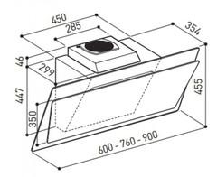 Вытяжка Korting KHC 67070 GW - схема