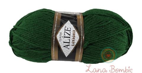 Пряжа Alize Lanagold 118 зеленый