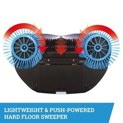 Механический веник Spin Broom - ручная подметающая машина