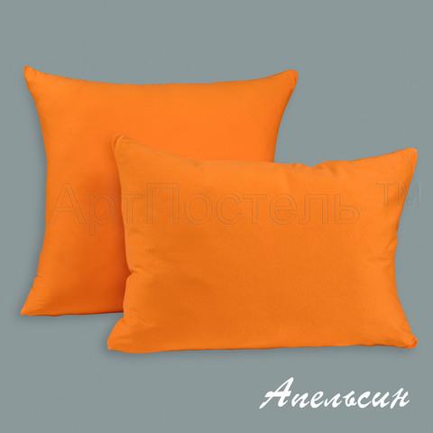 Трикотажная наволочка на молнии Апельсин