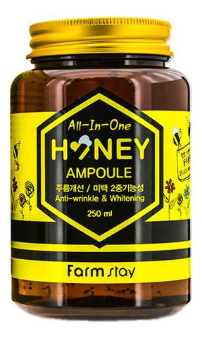Многофункциональная ампульная сыворотка с мёдом FarmStay All-In-One Honey Ampoule, 250 мл