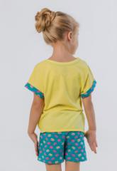 Костюм летний для девочки (футболка и шорты) купить