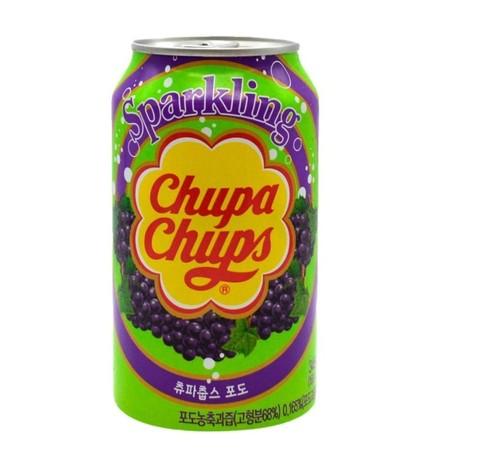 Газированный напиток Chupa Chups Grape со вкусом винограда, 345 мл
