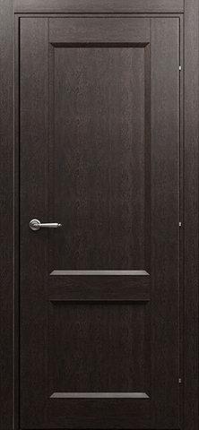 Дверь Краснодеревщик 3023, цвет чёрный дуб, глухая