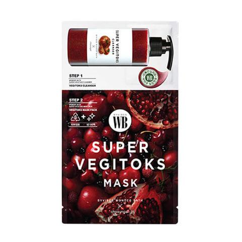 Wonder Bath Super Vegitoks Mask Pack-Red 2-x ступенчатая детокс-маска красная