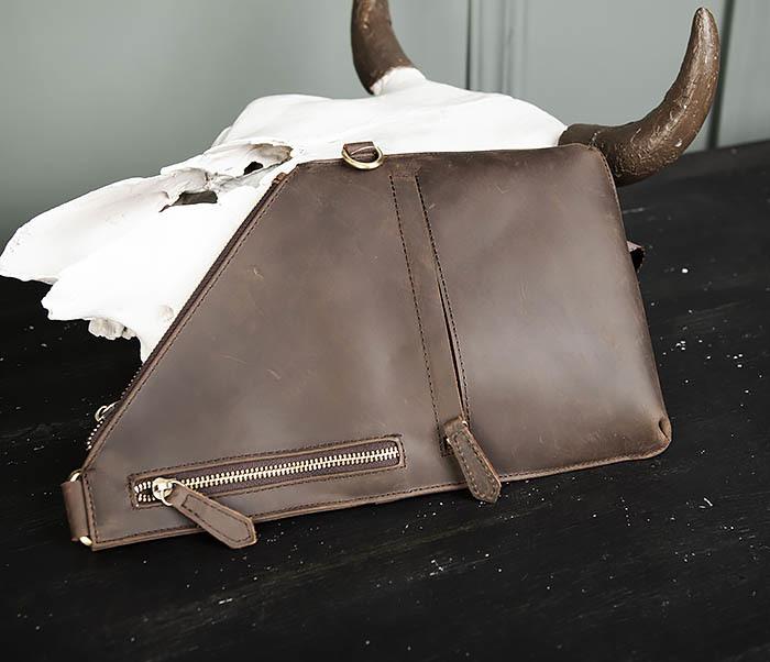 BAG472-2 Кожаная мужская сумка с одной лямкой фото 02