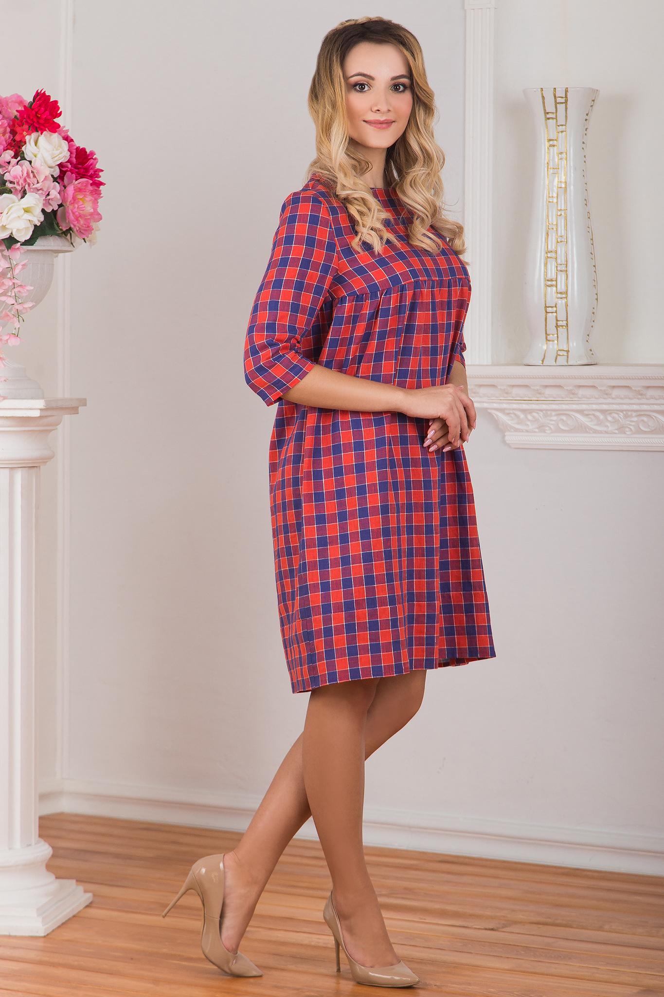 Платье льняное Хобби 2017 вид сбоку
