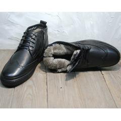 Ботинки зимние мужские натуральная кожа натуральный мех Rifellini Rovigo C8208 Black