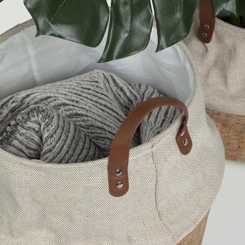 Комплект Kalyn 2 корзины пробка ткань натуральная