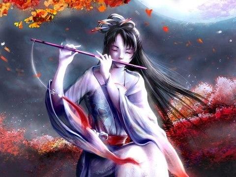 Картина раскраска по номерам 40x50 Девушка играет на флейте (арт. PH9234)