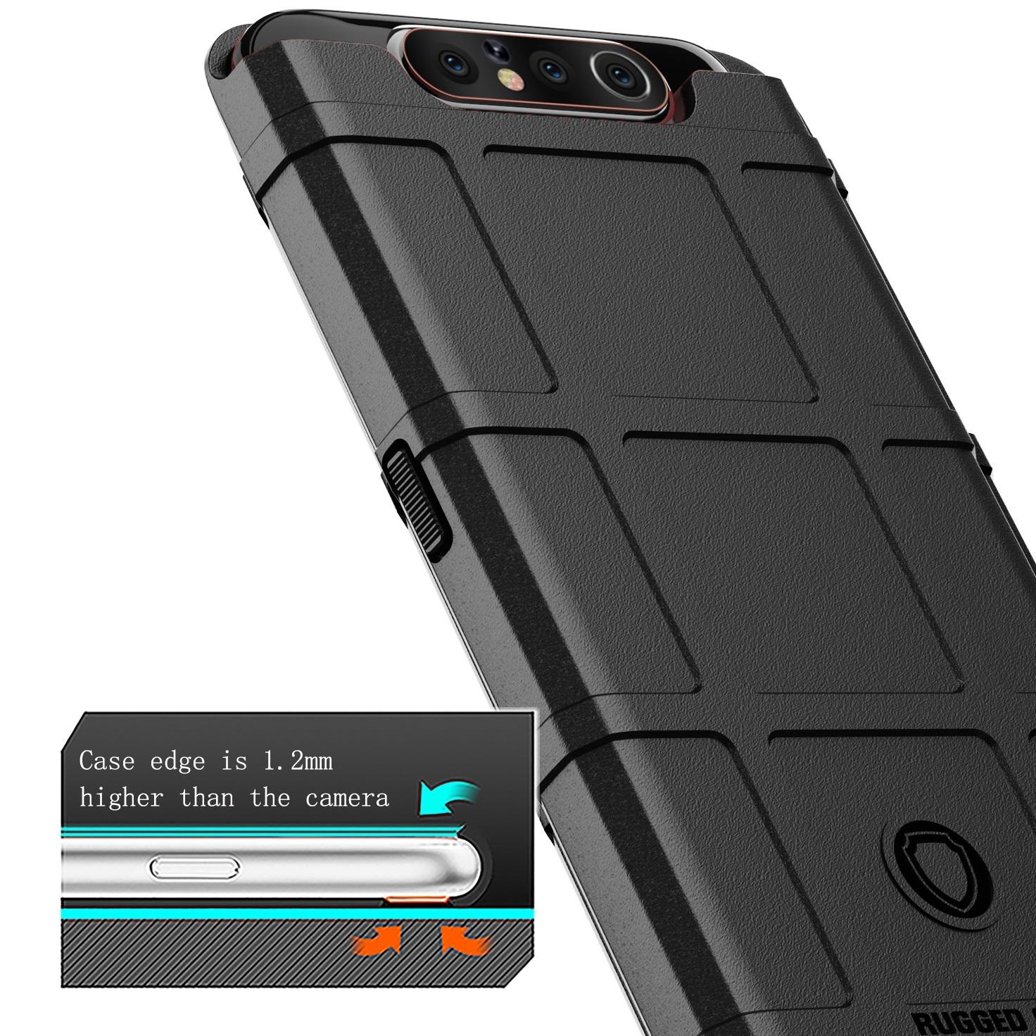 Чехол Samsung Galaxy A80 (Galaxy A90) цвет Black (черный), серия Armor, Caseport