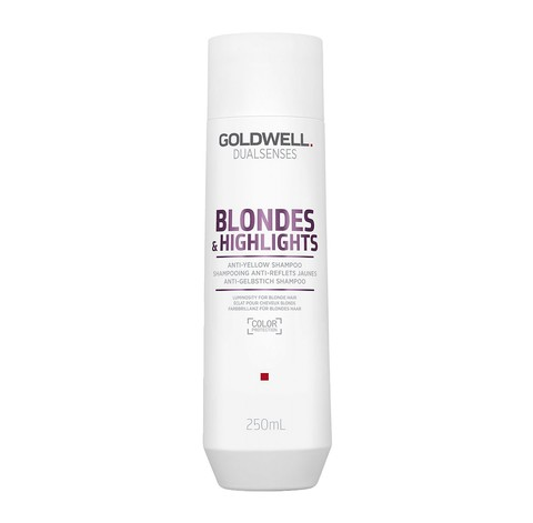 Шампунь против желтизны для осветленных волос, Goldwell Dualsenses Blondes & Highlights Anti-Yellow Shampoo, 250 мл.