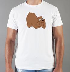 Футболка с принтом Медведь, Медвежонок (Bear) белая 0018