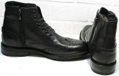 Красивые зимние  ботинки мужские LucianoBelliniBC3801L-Black.