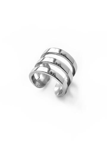 Серебряная тройная серьга-кафф (без прокола)