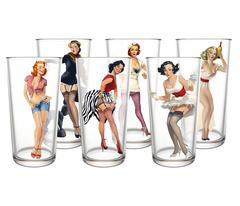 Набор стаканов 280 мл Pin-up girls, 6 шт, фото 1