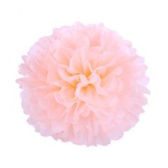 Помпон из бумаги 30 см персиковый