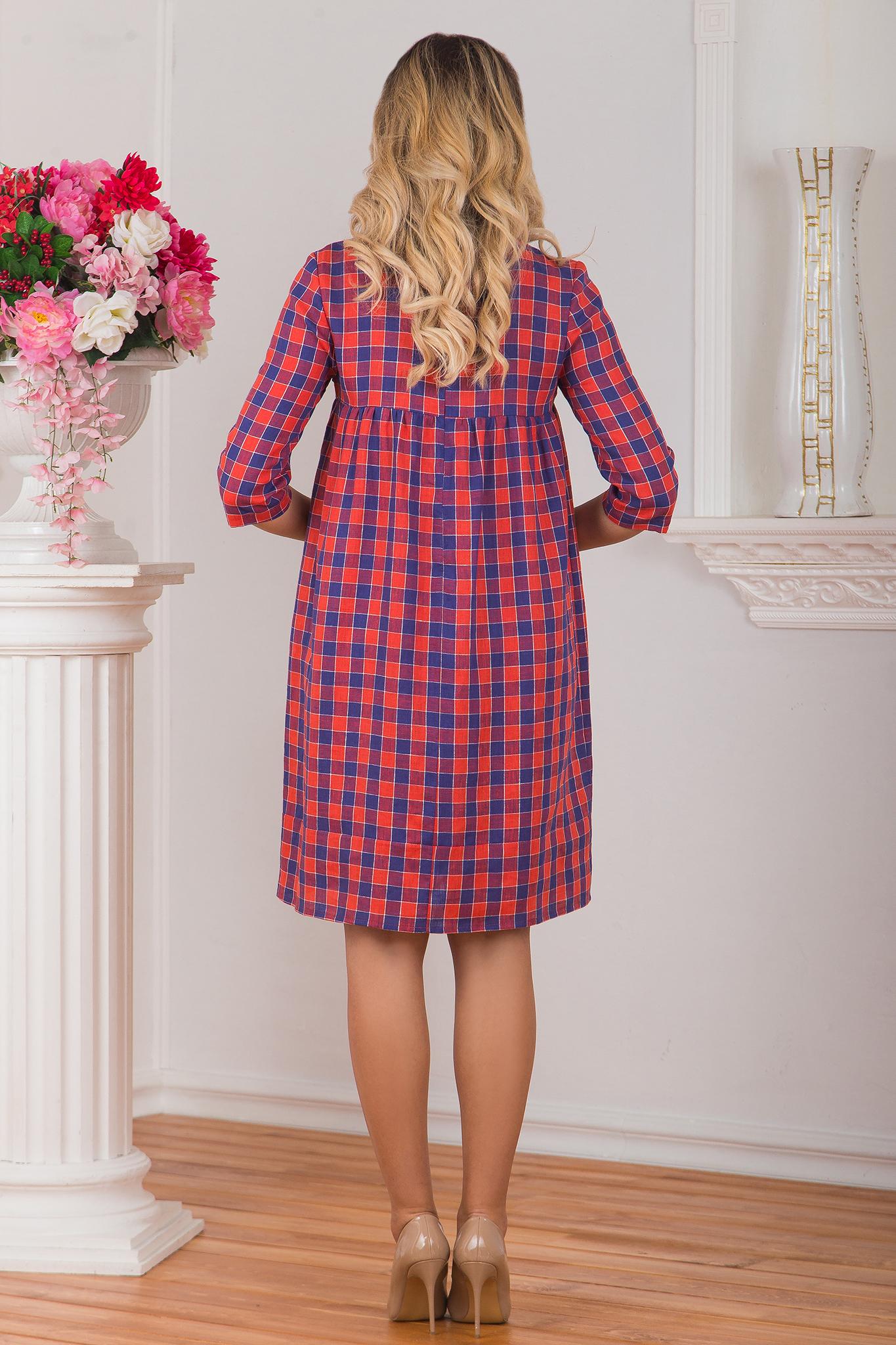 Платье льняное Хобби 2017 вид сзади
